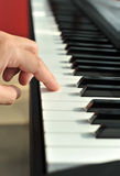 Close-up of a piano hand Stock Photography