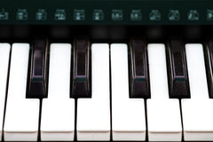 Close up of piano key, front view Stock Image