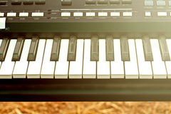 Close up of piano key, front view Royalty Free Stock Image
