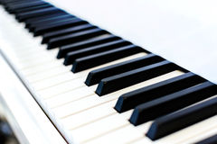 Close up of piano key Stock Images