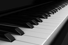 Close-up piano keyboard Stock Photos