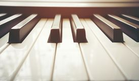 Close up piano keyboard. Close up of piano keyboard royalty free stock image