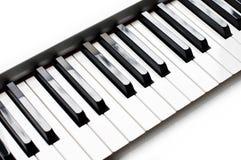 Close up of a piano keyboard Royalty Free Stock Photos