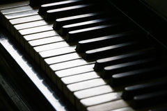 Close up of piano keyboard Stock Photography