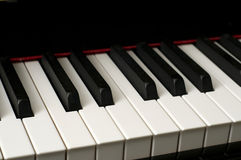 Close up of Piano Keys Royalty Free Stock Photography