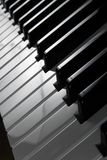 Close-up of piano keys. Close-up of black and white piano keys Stock Photography