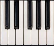 Close-up of piano keys Royalty Free Stock Photo