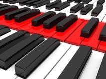 Close up of piano keys Royalty Free Stock Photo
