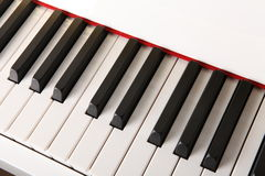 Close-up of piano keys close frontal view Stock Photo