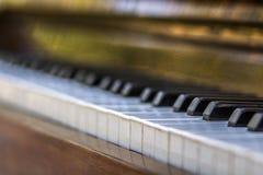 Close-up of piano keys. close frontal view. Close-up of piano keys. close frontal view Stock Photo