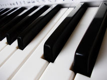 Close up of piano keys Royalty Free Stock Images