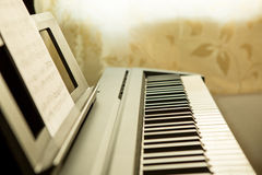 Close-up of piano keys Royalty Free Stock Photos