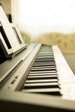 Close-up of piano keys Royalty Free Stock Photography