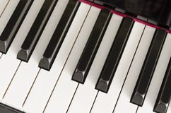Close up of piano keys Royalty Free Stock Photos