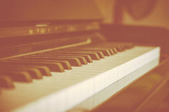 Close-up piano keys. Royalty Free Stock Photo
