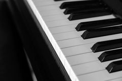 Close-up piano keys. Royalty Free Stock Image
