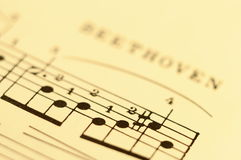 Close up of music score Royalty Free Stock Image