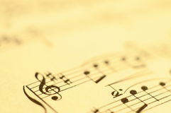 Close up of music score Stock Photo