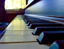 Close up of a Piano's keys Stock Photos