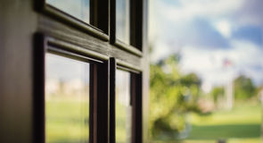 Close-up picture of balcony door Royalty Free Stock Photography