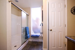 Close up picture of a Bathroom Interior Stock Photo