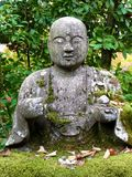 Close up picture of the beautiful Buddha Statue in the Eikando Temple in Kyoto stock photos