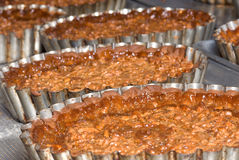 Close up picture of dessert. Close up picture of hazelnut pie dessert Stock Photos
