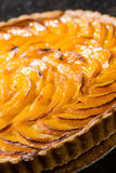Close up picture of dessert. Close up picture of apricot pie dessert Stock Images