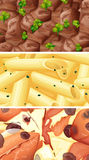Close up picture of different kind of food Royalty Free Stock Photo