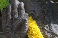 Hand detail of a black Ganesha statue stock photos