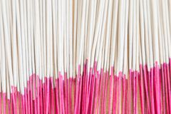 Close up picture of incense sticks use for worship in Buddhism a. Nd Hinduism in Asia Royalty Free Stock Images