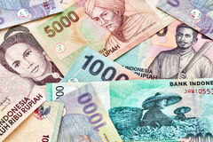 Close up picture of Indonesian rupiah banknotes.  Royalty Free Stock Images