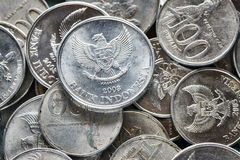 Close up picture of Indonesian rupiah coins. Close up picture of Indonesian rupiah coins, shallow depth of field Royalty Free Stock Image