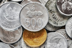 Close up picture of Indonesian rupiah coins. Close up picture of Indonesian rupiah coins, shallow depth of field Stock Photography