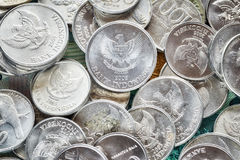 Close up picture of Indonesian rupiah coins. Close up picture of Indonesian rupiah coins, shallow depth of field Stock Image
