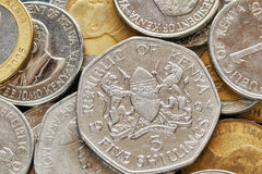 Close up picture of Kenyan shilling. Stock Photos