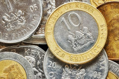 Close up picture of Kenyan shilling. Close up picture of Kenyan shilling, shallow depth of field Royalty Free Stock Photo