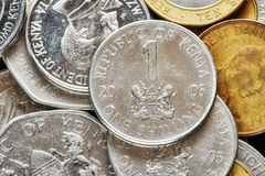 Close up picture of Kenyan shilling. Close up picture of Kenyan shilling, shallow depth of field Stock Photo