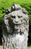 Lion Head Bust. Lion's Head Bust Statue in Stone Royalty Free Stock Image