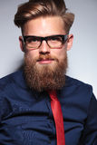 Close up picture of a long beard business man Royalty Free Stock Photography