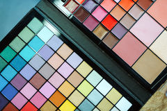 Close up picture of makeup colorful pallete Stock Image