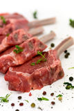 Close Up Picture Of A Raw Lamb Chop - Fillet Royalty Free Stock Photo