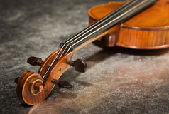 Close-up picture of the old violin Stock Images