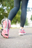 Close up picture of pink running shoes Royalty Free Stock Photo