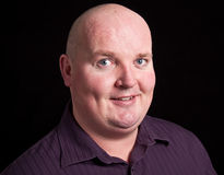 Close up picture portrait of an overweight male Royalty Free Stock Photography