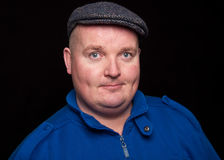 Close up picture portrait of an overweight male Royalty Free Stock Images