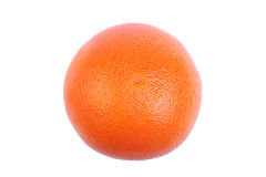 Close-up picture of ripe, poriferous, juicy orange, isolated on white background. Nutritious vitamins for breakfast. Royalty Free Stock Photo