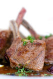 Close up picture of a roasted lamb chop-fillet- a Royalty Free Stock Photo