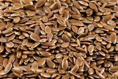 A close-up picture of some flax-seeds Stock Image