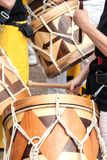 Close-up picture of South American wooden drums Royalty Free Stock Image